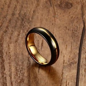 Jewelry - Gold Plated Tungsten inlay ring